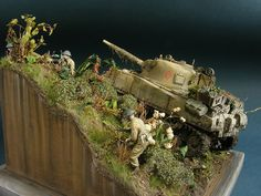 The detail on the military model diorama is spectacular @ http://www.hobbylinc.com/plastic-model-dioramas
