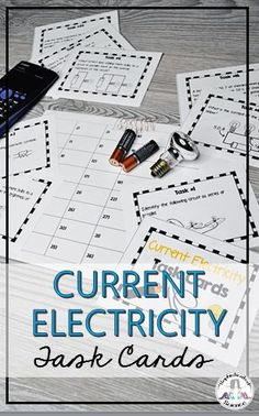 This set of 36 current electricity task cards encompasses many aspects of current electricity, including: High School Classroom, Science Resources, Task Cards, Math, Products, Math Resources, Early Math, Beauty Products, Mathematics
