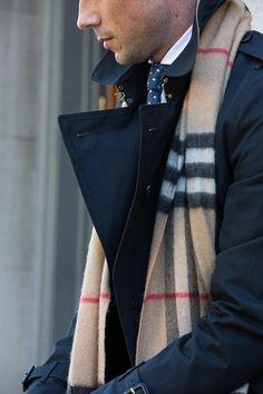 Burberry Scarf Bar - He Spoke Style | Men's Fashion | Menswear | Moda Masculina | Shop at designerclothingfans.com