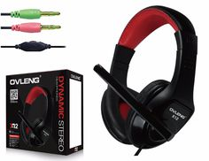 Original OVLENG X12 Professional Gaming Headphones Earphones Game Headset with Microphone for Desktop Laptop Notebook Tablet PC