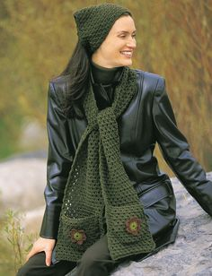 Yarnspirations.com - Patons Applique Kerchief & Scarf - Patterns  | Yarnspirations