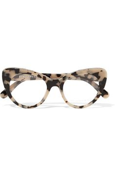 Tortoiseshell acetate, silver-tone metal Come in a designer-stamped case Can be fitted with prescription or UV-protective lenses Made in Italy