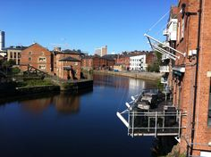 River Aire, by the Calls, LEEDS Barge Boat, Canal Boat, West Yorkshire, Leeds, Boats, England, River, City, Modern