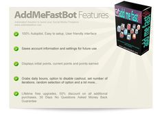 AddMeFast Bot is a computer software that will boost your points in AddMeFast. This software can be used for operating systems like Windows XP, Windows Vista and Windows 7.