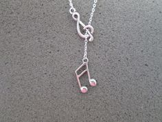 Music Lover Music Note Lariat Necklace. Starting at $1