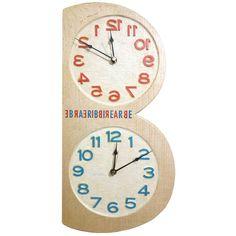 木工作品集 271 Woodcraft works portfolio 271 2016年 #木 の #時計 #理容室 の #開店祝  #wooden #clock #gift for #barbershop newly opened 通常と鏡越しのツイン twin dials normal/mirror http://ift.tt/1Nq0R26