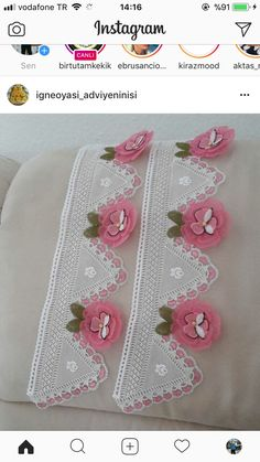 This Pin was discovered by HUZ Elsa, Punch, Needle Lace, Crochet Lace, Crochet Edgings, Beaded Embroidery, Diy And Crafts, Kids Rugs, Do It Yourself