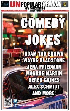 NEW YORK: see Adam Tod Brown and Gladstone at a special edition of our stand-up show, this Sunday at The Stand!