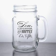 96pcs Love Laughter Personalized Custom Mason Jar Wedding Favors On Etsy 360 00