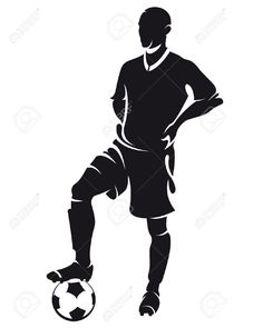 man holding soccer ball silhouette - Google Search