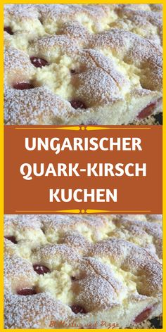 UNGARISCHER QUARK-KIRSCH-KUCHEN  _ Easy Cake Recipes, Bakery, Cheesecake, Food And Drink, Low Carb, Sweets, Snacks, Cooking, Breakfast