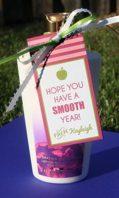 "Gift Tags + Free All About Me Printable Book – UPDATED ""Hope you have a smooth year!"" what a great gift for your new teachers!""Hope you have a smooth year!"" what a great gift for your new teachers!"