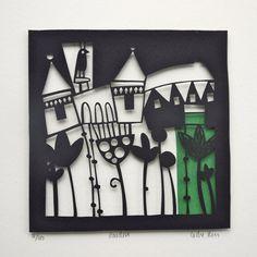 Garden Papercut by Caroline Rees