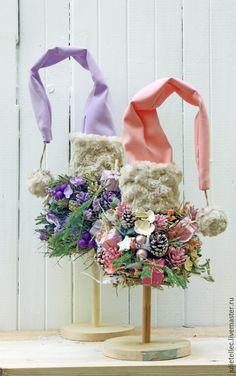 Купить Елочки - сиреневый, розовый, новогодний интерьера, новогодние украшения…
