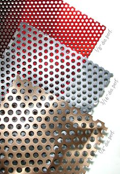 Customize your perforated metal with cut-outs of varying size and dimension #MozDesignerMetals #PerforatedMetal #ClassicMetals
