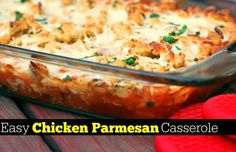 Easy Chicken Parmesan Casserole | Aunt Bee's Recipes