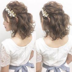 【ミディアム・ボブ】ふんわり可愛いブライダルヘア・髪型まとめ | marry[マリー]