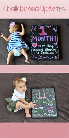 1000 Ideas About One Month Chalkboard On Pinterest