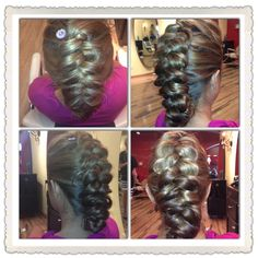 Visible French braid updo