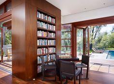 32 Trendy Home Library Room Modern Architecture Home Library Rooms, Home Library Design, Home Libraries, Dream Home Design, House Design, Modern Library, Bookshelf Design, Bookshelves Built In, Unique Bookshelves
