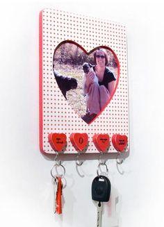 DIY Key Holder : DIY Easy heart frame keyholder