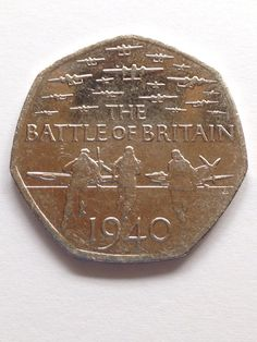 Collectable Coin Battle Of Britain Anniversary Old British Coins, English Coins, Rare Coins Worth Money, Queen Victoria Family, Fifty Pence Coins, 50p Coin, Coin Worth, Lots For Sale, Note Paper
