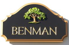 Benman House Sign / Danthonia Designs