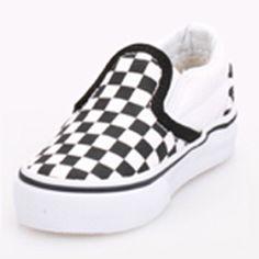 Vans VN-0EX8BWW Toddler Classic Slip On Black True White Checker Shoe    36.99 ! Buy now at GetShoes.ca 254a8adbb