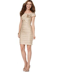 London Times Dress, Rosette Cocktail Dress - Womens Mother of the Bride Dresses - Macy's $109