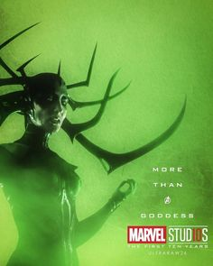 Hela More Than A Goddess Character posters for Marvel Studios' 10th anniversary