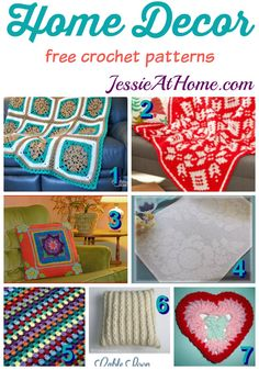 Home Decor free crochet patterns from Jessie At Home