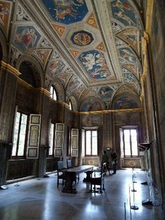 Villa Farnesina, Rome. Trastevere's finest.  Raphael's Galatea fresco is on the wall to the right.