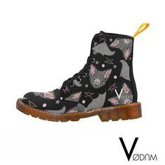 BATBAT LOVE Marten boots - Gothic, Pagan, Witchcraft, Witch, Magic, Wicca, Black, Dark, Militar, Goth, Lolita, Punk, Rain, Bats