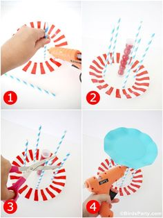 DIY Circus Carousel Candy Centerpiece - learn to make this DIY decoration for your party tables, desserts tables or circus birthday celebrations! Carousel Birthday Parties, Birthday Table Decorations, Carousel Party, Birthday Party Tables, Circus Birthday, First Birthday Parties, Circus Centerpieces, Birthday Candy, Birthday Diy