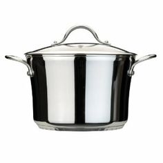 BergHOFF Tulip 10-1/4-Inch Glass Cov Stock Pot, 9.7-Quart by BergHOFF. $149.99. The pot's height and surface area preserves liquids longer and rich flavor from the ingredients. Pre-heat/hand wash. Tulip 10-1/4-Inch Glass Cov. Stock Pot 9.7-Quart. Stainless steel. It has a functional multi-layer patented base for even heat distribution with copper, aluminum and carbon steel encapsulated by surgical stainless steel 18/10.. Save 29% Off!