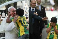 FOTO: ¿Por qué el Papa Francisco lloró con este niño brasileño? Pope Francis, Roman Catholic, Priest, Decir No, Inspirational Quotes, How To Become, Faith, Boys, Boy Crying