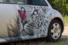 Аэрография на автомобиле «Фольксваген Жук» #airbrushing #airbrush #aerography…