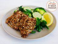IQS 8-Week Program - Dukkah Crusted Chicken.  This looks like a good family meal I can cook for everyone.