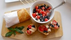 Whip up this Red, White, and Blueschetta recipe for the Fourth of July. #4thofJuly #healthyrecipes | everydayhealth.com
