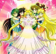 Sailor Moon Princess Serenity and the inner sailor Senshi Sailor Moon Crystal, Sailor Moon Fan Art, Sailor Moon Character, Sailor Moon Manga, Sailor Saturn, Sailor Venus, Sailor Mars, Neo Queen Serenity, Princess Serenity