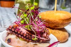 """See 49 photos and 17 tips from 97 visitors to Ajimojitos. One of the best creative new Puerto Rican restaurants"""" Puerto Rican Recipes, Pulled Pork, Puerto Rico, Hamburger, Ethnic Recipes, Food, Dishes, Shredded Pork, Essen"""