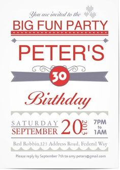 Choose This Design Birthday Party Invitations Invites Cards Bday Anniversary