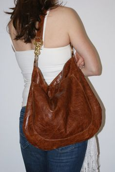 UMA Leather Tote Adjustable Strap Leather Hobo by margeandrudy