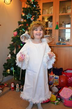 Angel costume from a pillow case