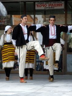 Dancing in the Square in Kicevo, Macedonia. Kičevo is a city in western Macedonia, located in a valley in the south-eastern slopes of Mount Bistra, between the cities of Ohrid and Gostivar. The capital Skopje is 112 km away.