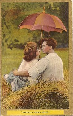 Young Love  Two Charming Circa 1910 Postcards  by postalgreetings