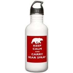 Keep Calm and Carry Bear Spray Water Bottle