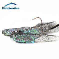 BlueSardine 20PCS Soft Baits Jig Head Fishing Lures Soft Pesca Hook Fishing Tackle 7.5CM 5.7G