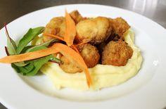 Denné menu Vranov | Vyprážané šampiňóny, zemiaková kaša, tatárska omáčka - reštaurácia Hotel Patriot*** #food #restaurant #lunch #hotel