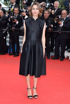 Sofia Coppola at #Cannes2014. She has worn the same fabulous shoes for every red carpet appearance so far. I think that is awesome.